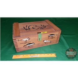 Ducks Unlimited Old Fishing Lures - Wood Crate