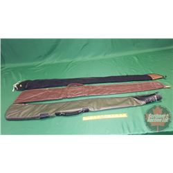 Soft Shell Gun Cases (3) (1 Black Sock, 1 Green, 1 Burgundy)