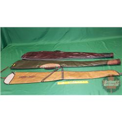 Soft Shell Gun Cases (3) (1 Green, 1 Burgundy, 1 Brown)