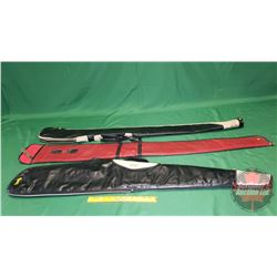 Soft Shell Gun Cases (3) (2 Black, 1 Red)