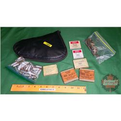 AMMO & Pistol Case: (35Rnds of 10mm) & (15Rnds of 38 S&W) & Primers & Browning Pistol Case
