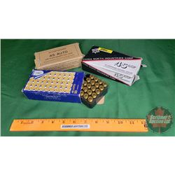 AMMO: Variety of 45 Auto (101 Rnds)