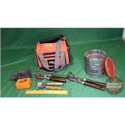 Duffle Bag Lot (Bullet Molds & Large Quantity of Lead Bullets 22lbs)