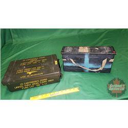 "Military Ammo Boxes (2) 14"" x 10"" x 4"" & 14"" x 4"" x 7"""