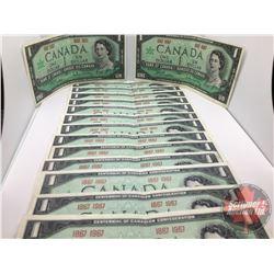 Canada $1 Bills 1967 Centennial (15)