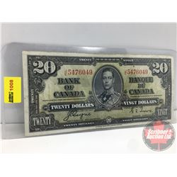 Canada $20 Bill 1937 Coyne/Towers S/N#JE5476049