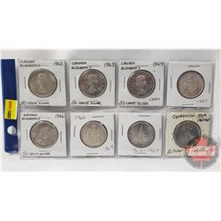 Canada Fifty Cent (8): 1962; 1963; 1964; 1965; 1966; 1967; 1967
