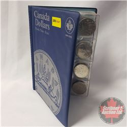 Canada One Dollar Coin Collection (13) in Unisafe Book: 1982(6); 1980; 1986(2); 1979; 1969(3)