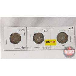 Canada Twenty Five Cent (3): 1920; 1950; 1965