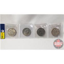 US Half Dollars (4): 1951; 1971; 1976; 1952