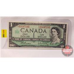 Canada $1 Bill 1967 Replacement : Beattie/Rasminsky *BM1647232
