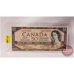 Canada $50 Bill 1954 Beattie/Rasminsky BH4273803
