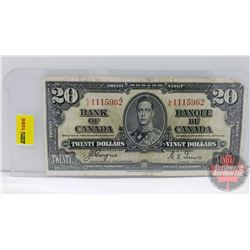 Canada $20 Bill 1937 Coyne/Towers S/N#LE1115962
