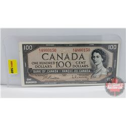 Canada $100 Bill 1954 Beattie/Rasminsky BJ4860150