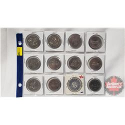 Canada One Dollar (12) : Manitoba 1870-1980(4); BC 1871-1971(2); Winnipeg 1874-1974(2); PEI 1873-197