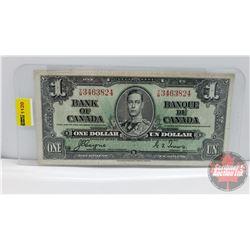 Canada $1 Bill 1937 Coyne/Towers YM3463824