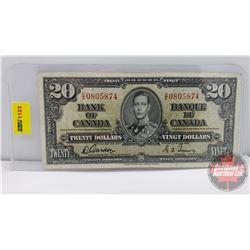 Canada $20 Bill 1937 Gordon/Towers CE0805874