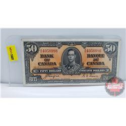 Canada $50 Bill 1937 Coyne/Towers BH4956986