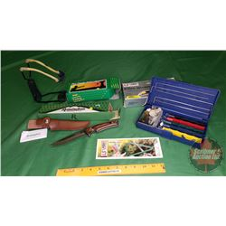 Lansky Knife Sharpener, Remington Sportsman Knife & Sling Shot