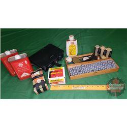 Possibles Bag, Lead Balls, Percussion Cap Dispenser, Black Powder (1 lb) , etc