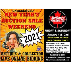3 DAY : COIN & ANTIQUE & COLLECTOR AUCTION : JAN 1-2-3 NEW YEARS 2021 LIVE ONLINE ONLY