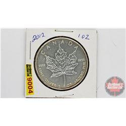 Canada 2012 Fine Silver 1 oz Five Dollar Coin (.9999)