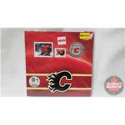RCM NHL Collector Coin & Stamp Set : Twenty Five Cent 2014 Calgary Flames