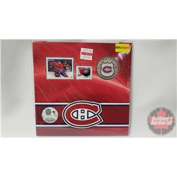 RCM NHL Collector Coin & Stamp Set : Twenty Five Cent 2014 Montreal Canadiens