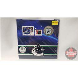 RCM NHL Collector Coin & Stamp Set : Twenty Five Cent 2014 Vancouver Canucks