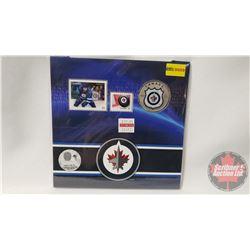 RCM NHL Collector Coin & Stamp Set : Twenty Five Cent 2014 Winnipeg Jets
