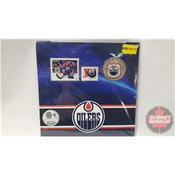 RCM NHL Collector Coin & Stamp Set : Twenty Five Cent 2014 Edmonton Oilers