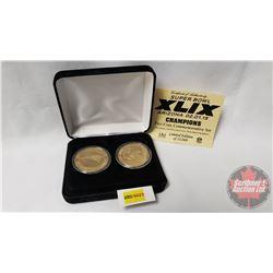 NFL Super Bowl XLIX Arizona 02.01.15 Champions Two Coin Commemorative Medallions Set (Limited Editio