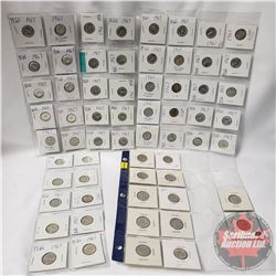 Canada Centennial Coin Collection : Five Cent (12) & Ten Cent (50)