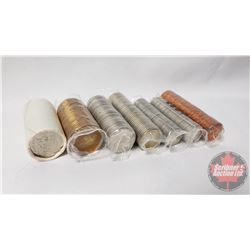 Canada Rolls (7)  1993 : Loonies; Fifty Cent; Twenty Five Cent; Ten Cent (2); Five Cent; One Cent (N