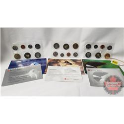 RCM (3) Uncirculated Coin Sets (1999; 2000; 2001)
