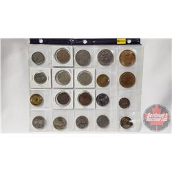 Large Variety of Foreign Coins/Tokens/Medallions (20): Incl: Charles & Diana; Calgary Stampede; Eliz