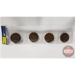 Strip of 4 Coins: 1876 One Penny; 1931 One Penny; 1920 One Penny; 1903 One Penny