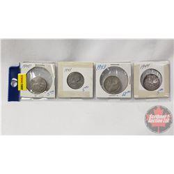 Canada Twenty Five Cent - Strip of 4: 1940; 1941; 1943; 1944