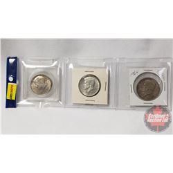 US Half Dollars (3): 1967; 1964; 1964
