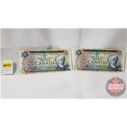 Canada $5 Bills *Replacements Bouey/Rasminsky (2): 1972; 1972