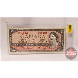 Canada $2 Bill 1954 : Lawson/Bouey SG0096429