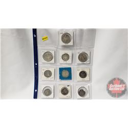 Canada Fifty Cent (10): 1962; 1964; 1965; 1966; 1967; 1967; 1968; 1969; 1972; 1974