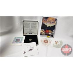 2 RCM Sets: Oh Canada 1998 & The Official Millennium Keepsake Coin & Stamp Set