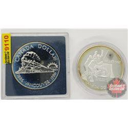 Canada Silver Dollars (2): Vancouver 1886-1986 & Canada/USSR Series 1972-1997