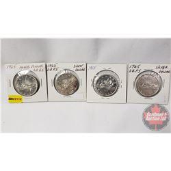 Canada Silver Dollars (4) Variety