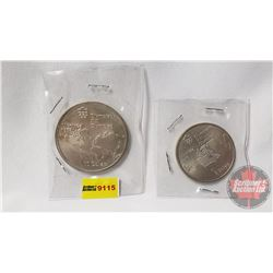 Montreal Olympic Coins (2): $5 & $10