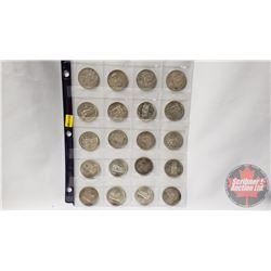Canada Silver Dollars (20): 1958