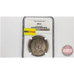 Canada Silver Dollar 1935 (NGC Cert: MS-63)