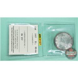 Canada Silver Dollar 1937 (ICCS Cert: MS-64)