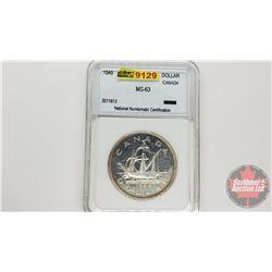 Canada Silver Dollar 1949 (NNC Cert: MS-63)